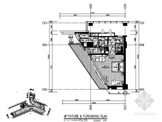 [深圳]某国际大酒店K1房型客房施工图