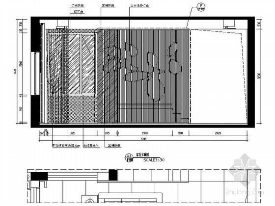 [深圳]混搭风格三层别墅样板间室内装修图(含效果) 立面