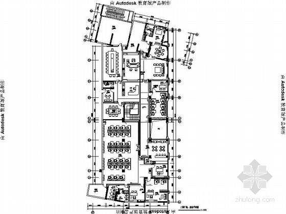[广东]知名大型简约办公室室内设计CAD施工图(含效果图、方案  、物料表)