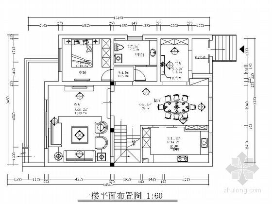[宜兴]欧式风格三层别墅装修CAD施工图(含效果图)