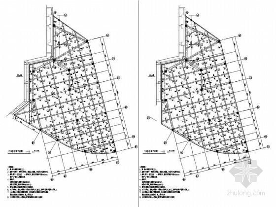 [福建]两栋地上二层现浇框架结构附属店面结构施工图