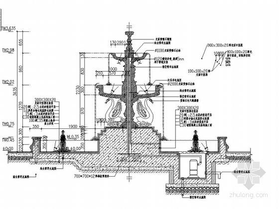 [东莞]居住区主入口水景设计施工图-图8