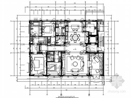 [杭州]欧式五居室样板房设计装修图