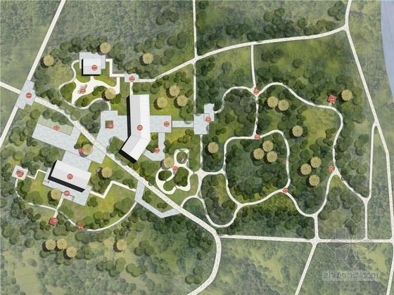 [青岛]旅游渡假村会所花园景观规划设计
