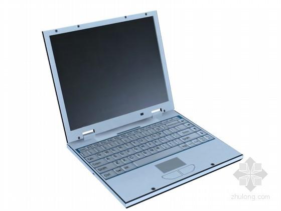手提电脑3D模型下载