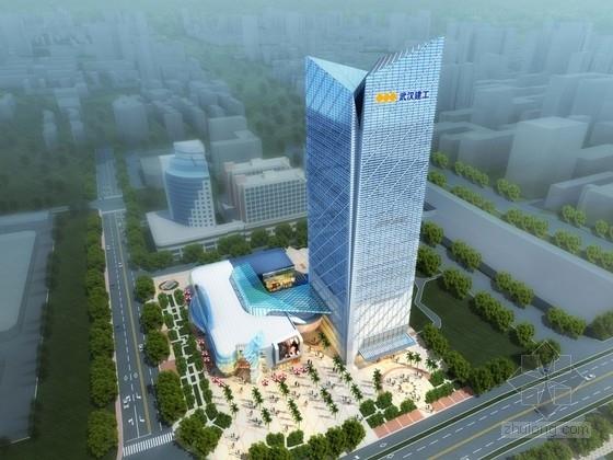 [湖北]28层玻璃幕墙办公楼及底层商业建筑设计方案文本