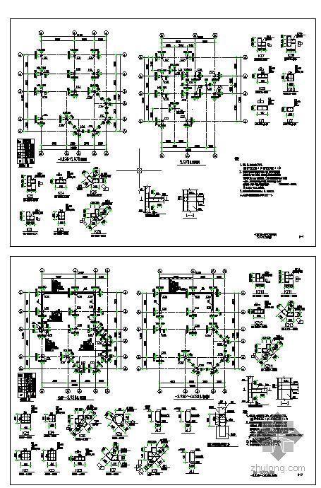 某带半地下室别墅建筑结构图