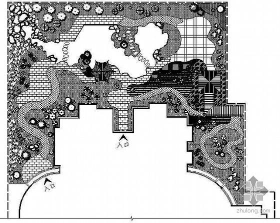 某屋顶花园景观设计平面图