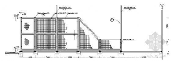 上海某大学网球场建筑方案图-2