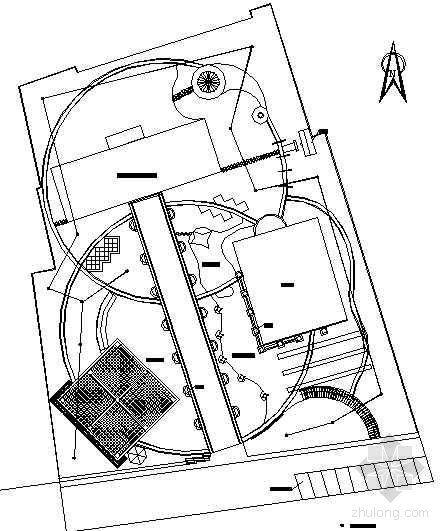 某老年活动中心自动喷灌系统布置图