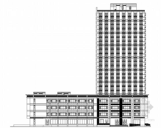 [上海]某24层欧式风格办公综合体建筑施工图