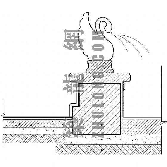 入口喷泉施工详图