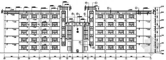 某五层框架结构学校建筑结构施工图纸