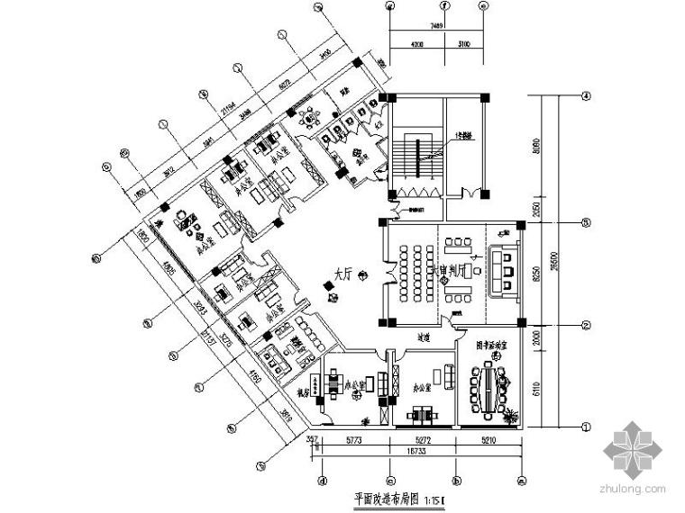 [兰州]某法庭办公空间装修图