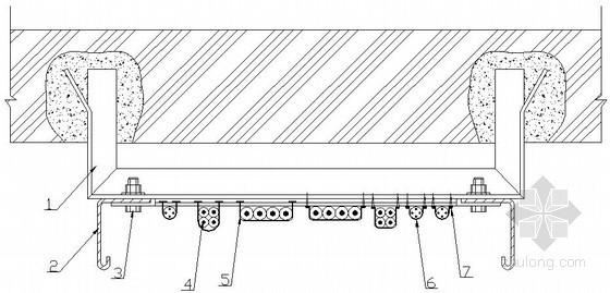 电缆沿电缆桥架垂直敷设示意图