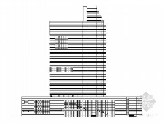[东莞]某二十一层商务办公楼建筑扩初图(含效果图)