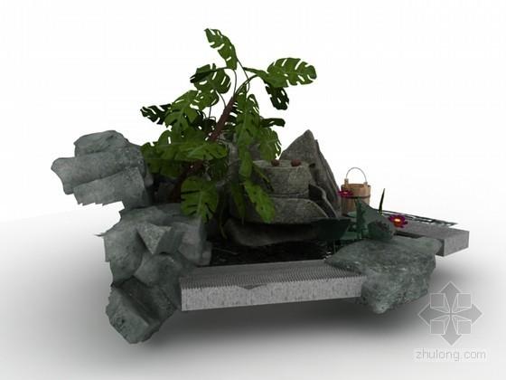 园林小品3d模型下载-园林小品3d模型效果图