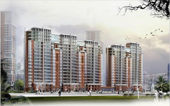 [上海]某方形住宅区地块规划方案文本(含WORD说明)