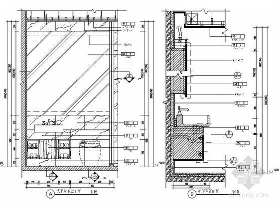 某家装洗手台节点CAD图块下载
