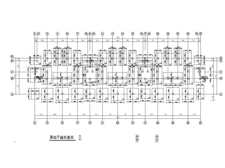 五层框架结构小区住宅楼结构施工图