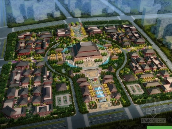 [新疆]特色碧玉文化商业产业园园林景观设计方案