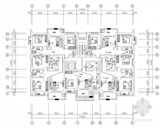 [山西]五层普通住宅楼电气施工图纸