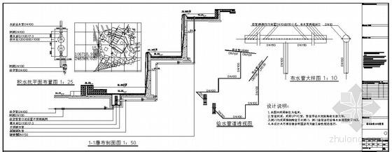 某水景给排水管道设计图纸