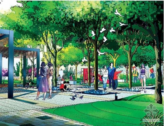大型住宅小区景观设计图纸