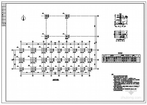 武汉某大道加油站框架结构设计图