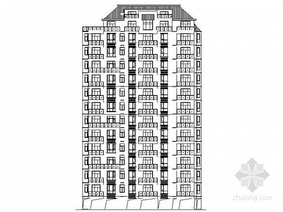 [湖北鄂州]某十二层一梯三住宅楼建筑施工图