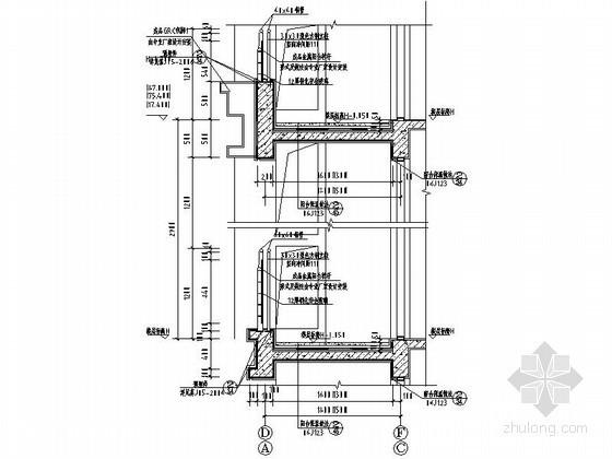 简欧式住宅阳台、空调机位、凸窗节点详图