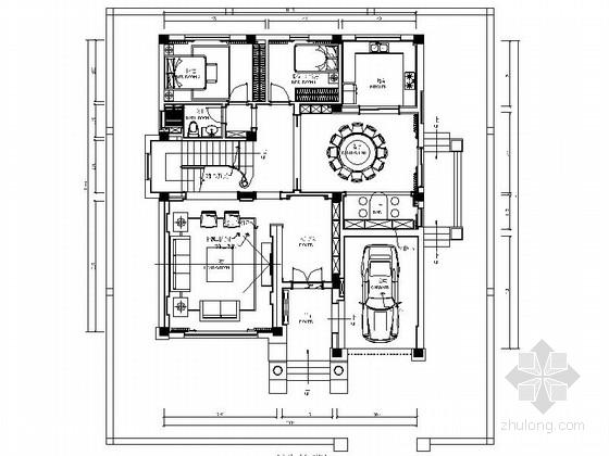 [浙江]豪華現代五室兩廳兩層別墅裝修室內設計施工圖