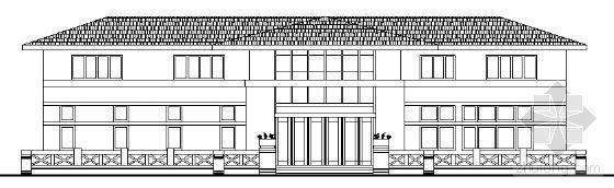 中西部地区某村委会二层办公楼建筑施工图