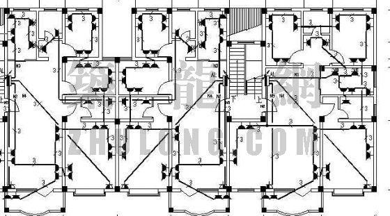 六层住宅电气装修设计图