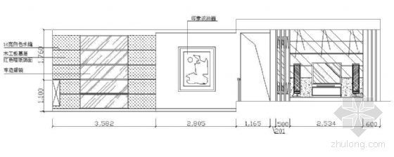 电视墙立面图块2