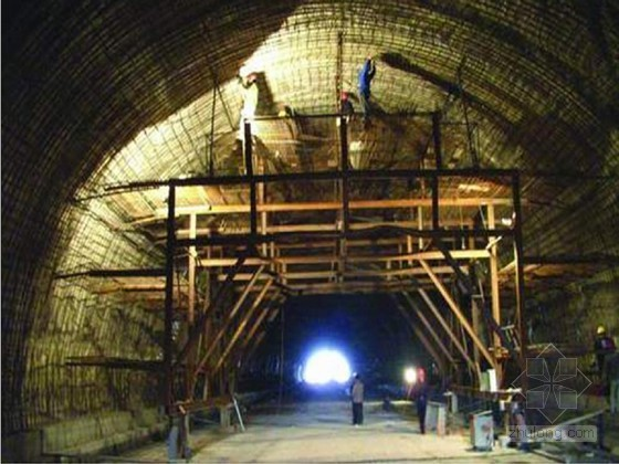 I级铁路实施性施组资料下载-复合式衬砌铁路隧道工程实施性施工组织设计(喷锚支护 台阶法)