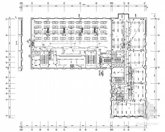 十二层商业综合建筑全套电气施工图纸(地下2层)