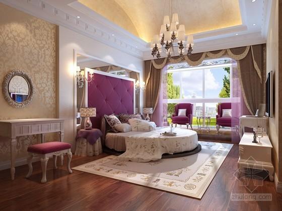 欧式风格舒适女生卧室3d模型下载