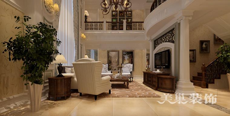 普罗旺世龙之梦260平别墅装修,感受美式古典的大气和浓厚
