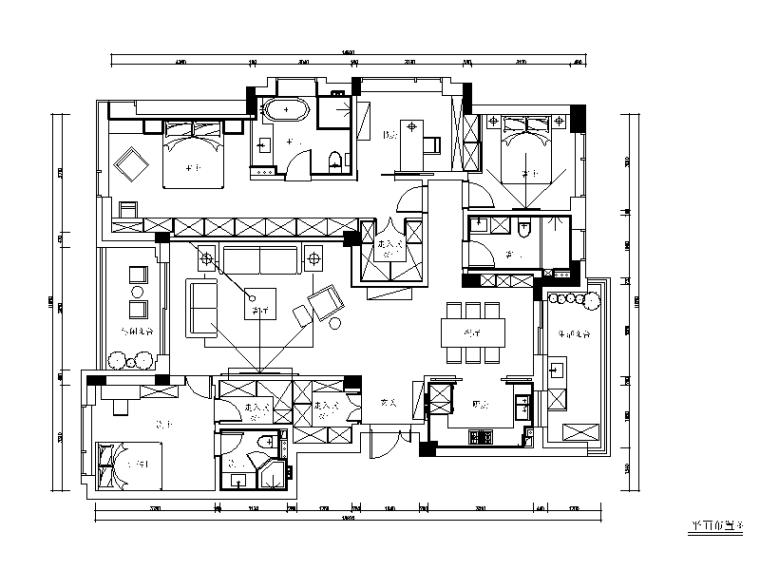 [浙江]新作!现代简约风格样板房全套CAD施工图(含实景图)