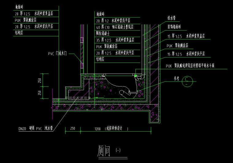 卫生间CAD大样详图