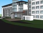 青岛盲人学校建筑设计SU精模型