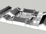 中式古建北京四合院模型.su模型
