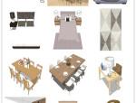 懒人整合包,70套北欧风格混合家具【SU】