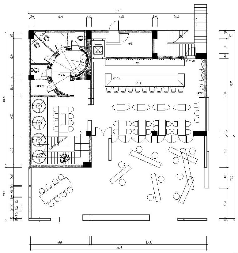 海口别具一格的海边酒馆建筑平面图(29)