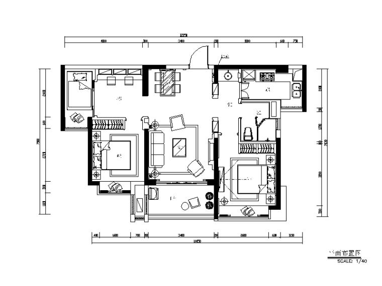 地中海风格样板房全套CAD施工图(含效果图、实景图、3D模型)