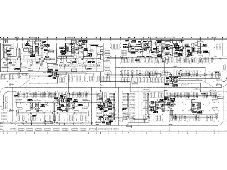 [福建]多套高层住宅小区通风及防排烟系统设计施工图(人防设计)