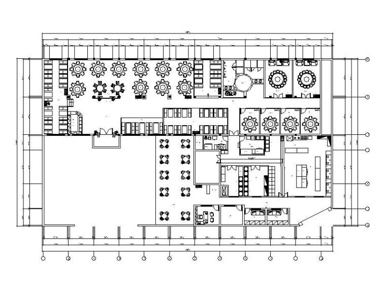 [杭州]特色古香中式餐厅设计施工图