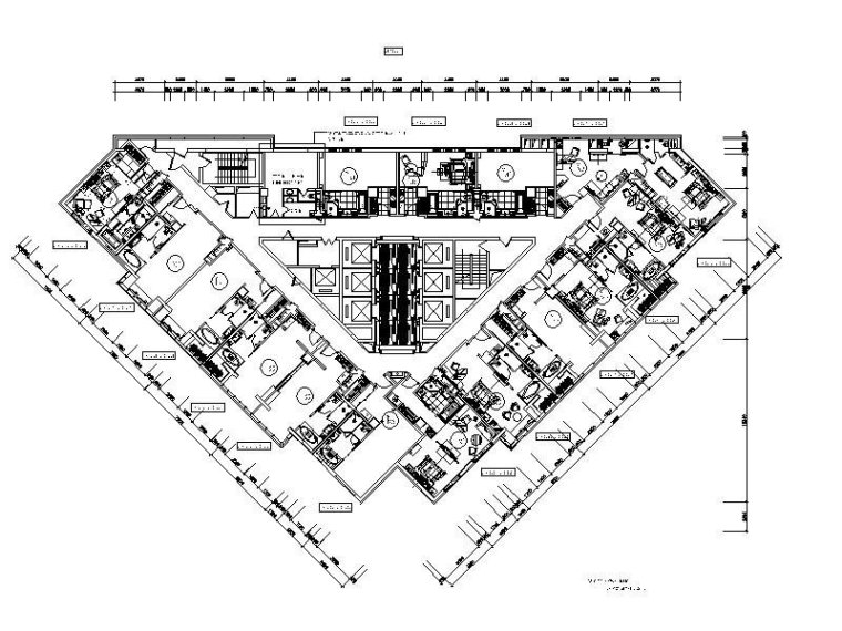 [成都]高档商务旅游酒店客房部设计施工图