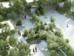 印度阶梯井和水迷宫的景观花园
